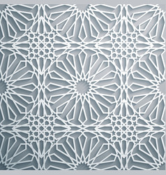Islamic ornament persian motiff white vector