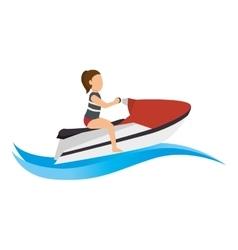Jet ski Extreme sport athlete avatar vector