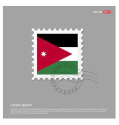 Jordan flag design vector