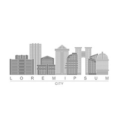Logo skyscrapers of metropolis City with high vector