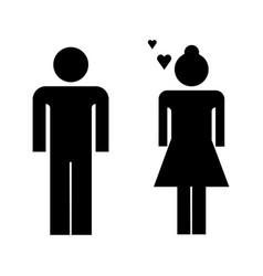loving couple icon vector image