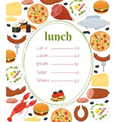 Lunch menu template vector