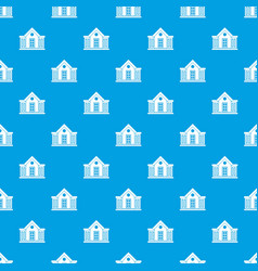 mansion pattern seamless blue vector image