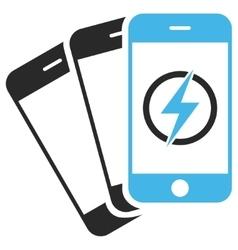 Mobile Phones Energy Eps Icon vector image