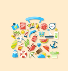 Modern of suitcase is made from a set flat icons vector image
