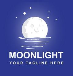 Moonlight logo design template vector