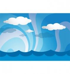 ocean template vector image