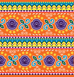 Pakistani or indian jingle truck seamless pattern vector