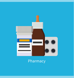 pharmacy poster medications vector image