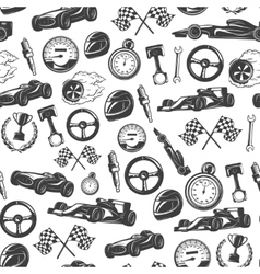 Racing Emblems Pattern vector image