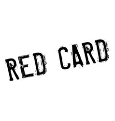 Red card rubber stamp vector