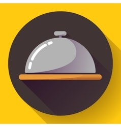 Restaurant cloche icon vector image