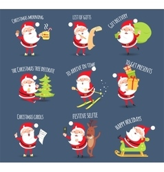 Santa Activities Christmas Happy Holidays vector