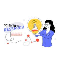 Scientific research - modern colorful flat design vector