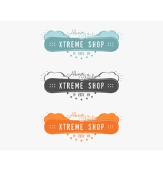 Set of Snowboarding extreme shop logo label vector image