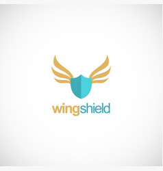 shield protection wing logo vector image