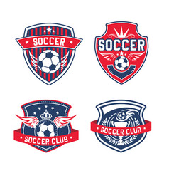 soccer team or football club heraldic icon vector image