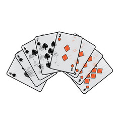 Spades diamonds suits french playing cards related vector