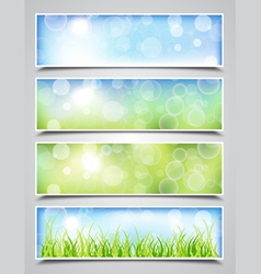 Spring Bokeh Banners vector image