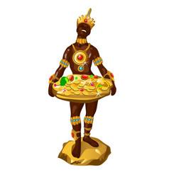 statuette in the form of a dark-skinned man vector image