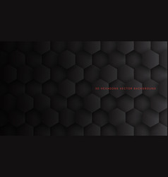 tech 3d hexagon blocks dark gray technology vector image