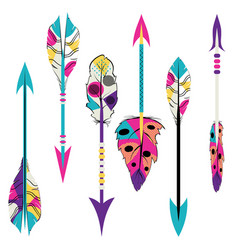 tribal arrows design vector image