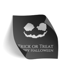 Trick or Treat Happy Halloween black Poster vector image