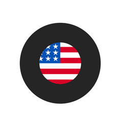 united states flag icon simple united states vector image