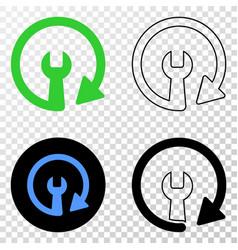 update repair wrench eps icon with contour vector image