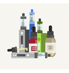 Vape device set Vaping juice for vape Vape trend vector