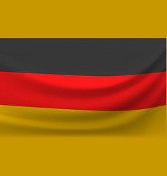 Waving national flag of germany vector