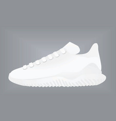 White canvas sneaker vector