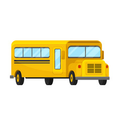 Yellow school bus of corner projection of classic vector