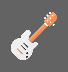 bass guitar icon music instrument concept vector image