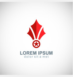 star medal shape business logo vector image vector image