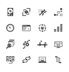 big data concept icons set vector image vector image