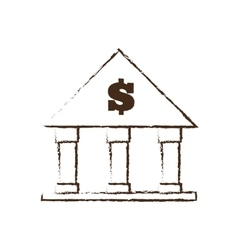 building bank money finance sketch vector image