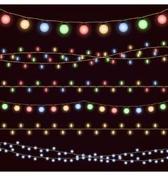 Festive christmas garland lights fairy xmas vector