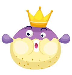isolated king blowfish vector image vector image