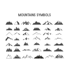 Mountain shapes and elements for creation your own vector image