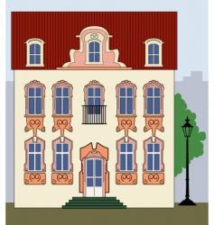 romantic old town house vector image