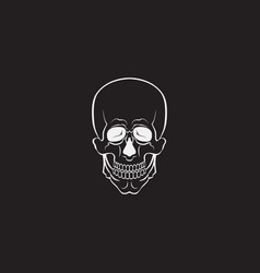 skull monochrome or sign vector image vector image