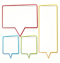 Speech bubble in the form of an thin frame for vector image