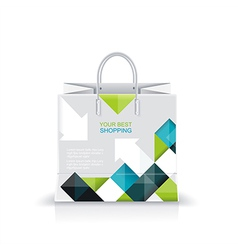 white shopping paper or plastic bag vector image vector image