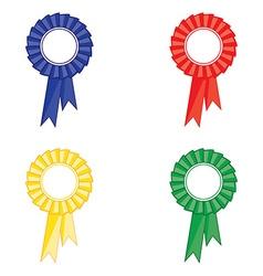 Award ribbon set vector image vector image