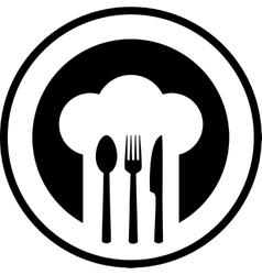 black restaurant sign vector image