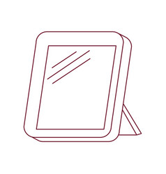dark red line contour of photo frame vector image