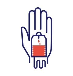 Donate hand vector image vector image