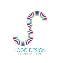 logo design letter S vector image vector image
