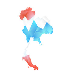 map of thailand polygon vector image